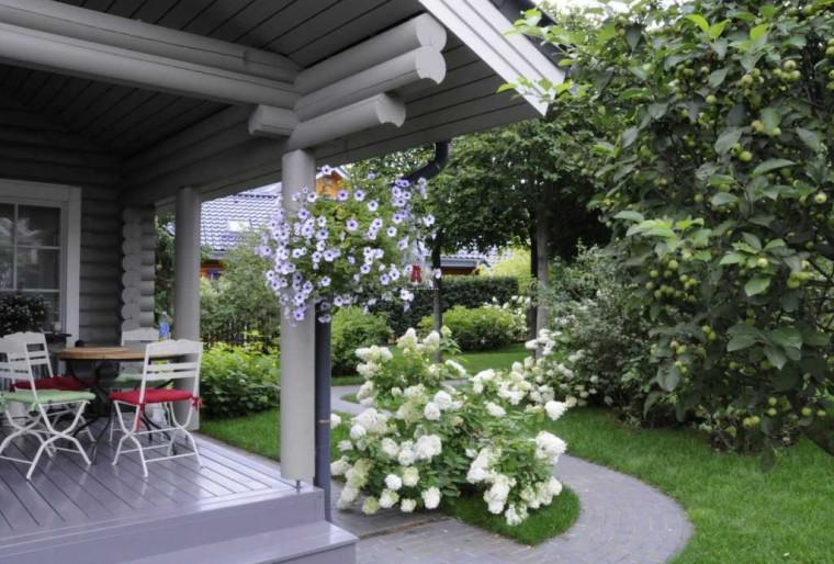 Обустройство и оформление небольшого участка за домом