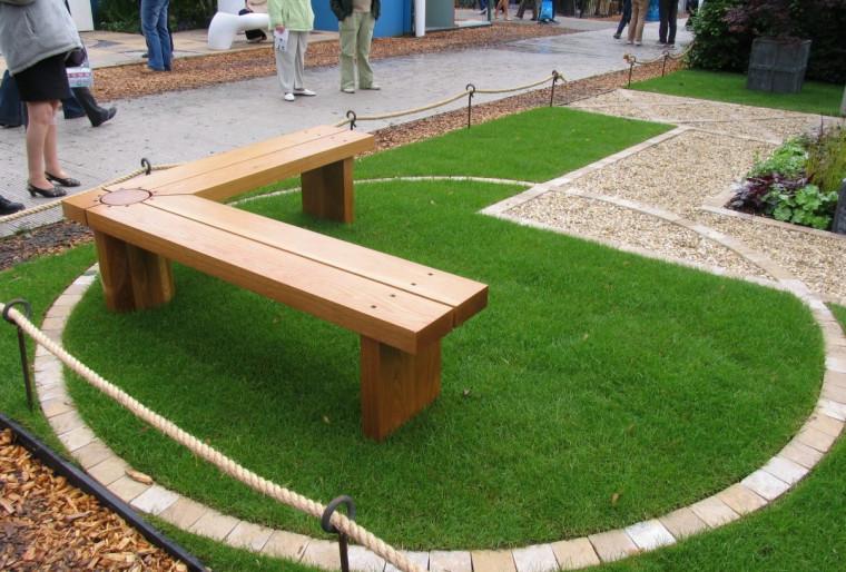 Декоративное оформление покрытий в дизайне сада